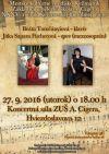 Koncertný program - Beáta Tomčányiová - klavír, Jitka Sapara Fischerová - spev (mezzosoprán)