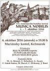 XXI. medzinárodný hudobný festival Musica Nobilis
