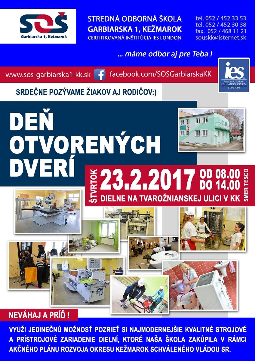 71887a4e1079 Pozvánka  Deň otvorených dverí SOŠ Garbiarska